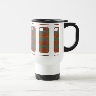 Cell Phone Junky LEATHER Patchwork Look Art Mug