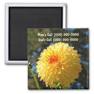 Cell Phone Number magnet Mom Dad Cell Phone