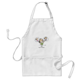 Cell Phone Nuts Adult Apron