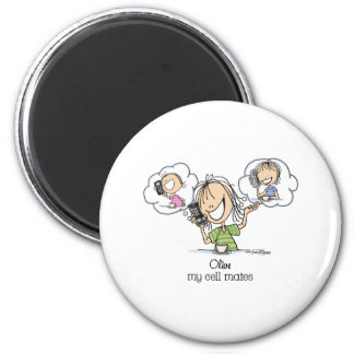 Cell Phone Nuts 2 Inch Round Magnet