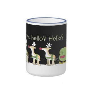 Cell Phone Reindeer Ringer Coffee Mug
