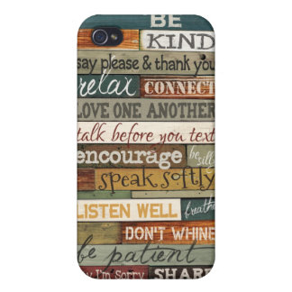 Cell Phone Rules Cover For iPhone 4