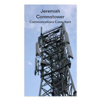 Cell phone tower business card