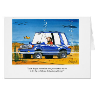Cell Phone under water Card