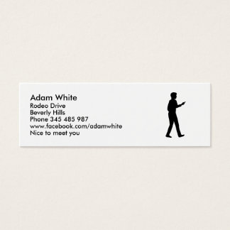 Cell Smartphone business man Mini Business Card