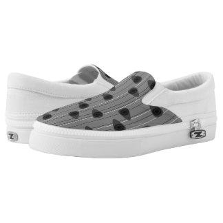 Cell-ular Lounge - blacks mono Z slipons Printed Shoes