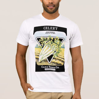 Cellery Seed Packet Label T-Shirt