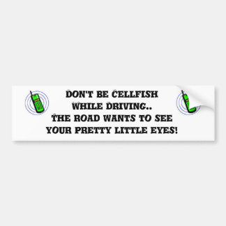 Cellfish Bumper Sticker