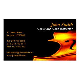 Cellist Business Card