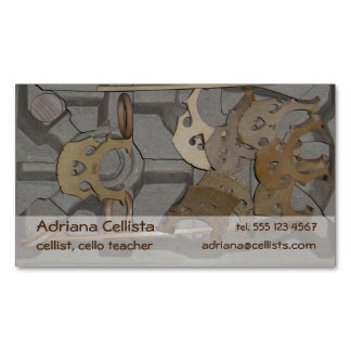 Cellist Contact Information Cello Bridge Image Magnetic Business Card