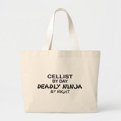 Cellist Deadly Ninja by Night Canvas Bag