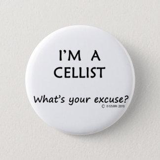 Cellist Excuse Pinback Button
