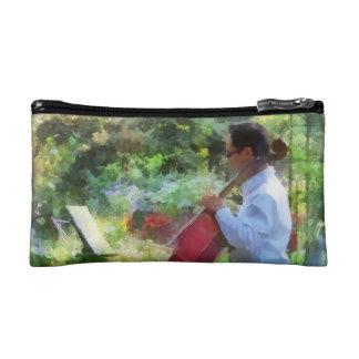 Cellist in the Garden Cosmetic Bag