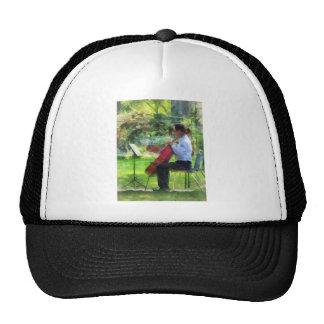 Cellist in the Garden Trucker Hat