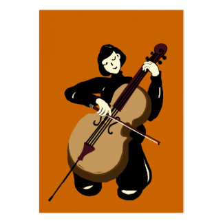 cellist playing cello large business card