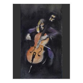 Cellist Postcard