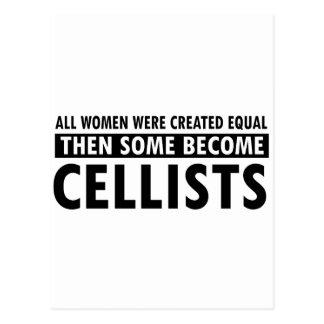 Cellists music designs postcard