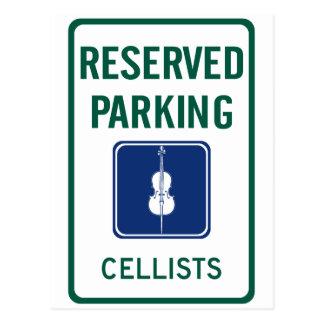 Cellists Parking Postcard