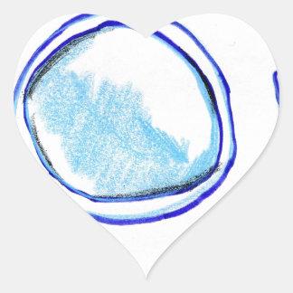 Cellmembrane modula pegatina en forma de corazón