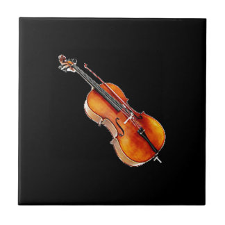 """Cello 2"" design gifts and products Ceramic Tile"