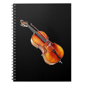 """Cello 2"" design gifts and products Spiral Notebook"