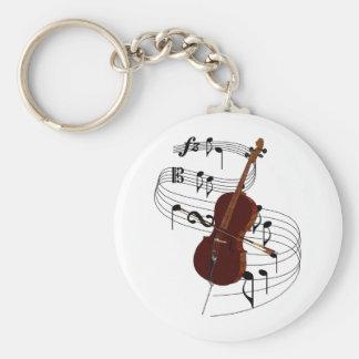 Cello Basic Round Button Keychain