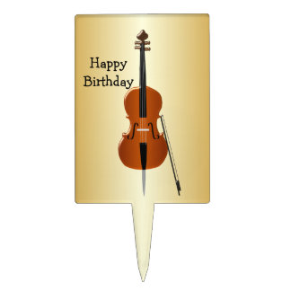 Cello Birthday Cake Topper