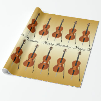 Cello Birthday Wrapping Paper