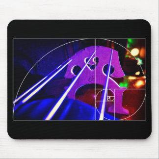 Cello bridge and Fibonacci spiral mousepad
