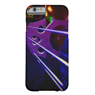 Cello bridge and strings close-up barely there iPhone 6 case