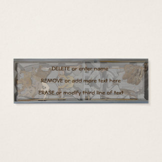 Cello Bridge Assemblage Customizable Text Mini Business Card