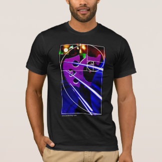 Cello bridge with Fibonacci spiral T-Shirt