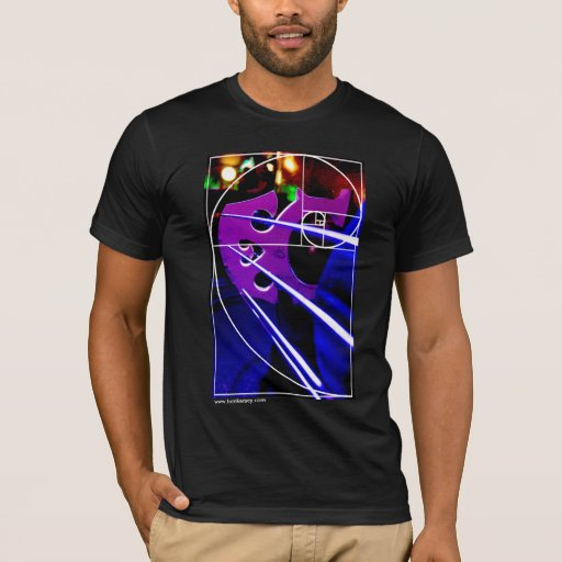 Cello Bridge with Fibonacci Spiral T-Shirt