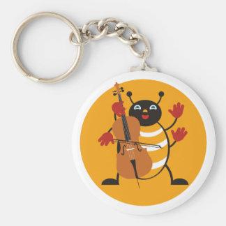Cello Bug Basic Round Button Keychain