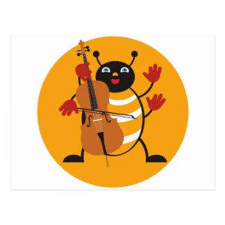 Cello Bug Postcard