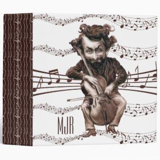 Cello Chops   Vintage Muscian   Monogrammed Binder