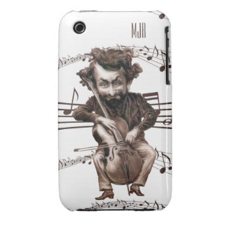 Cello Chops | Vintage Muscian | Monogrammed iPhone 3 Cover