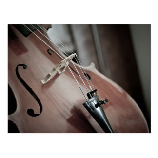 Cello classical music stringed instrument postcard