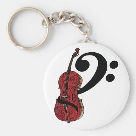 Cello Clef Keychain