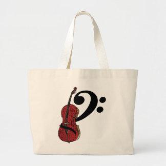 Cello Clef Totebag Jumbo Tote Bag