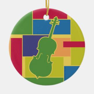 Cello Colorblocks Ornament