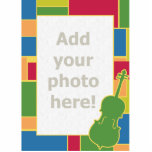 """Cello Colorblocks Photo Sculpture<br><div class=""""desc"""">Add your own &#39;cello player to this colorful frame.</div>"""