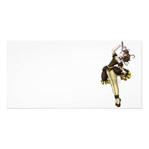 Cello Dance Personalized Photo Card
