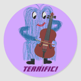 Cello - Get a Warm Fuzzy Feeling Classic Round Sticker