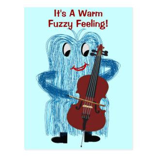 Cello - Get a Warm Fuzzy Feeling Postcard