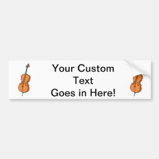 Cello Graphic , ViolinCello Music Design Car Bumper Sticker
