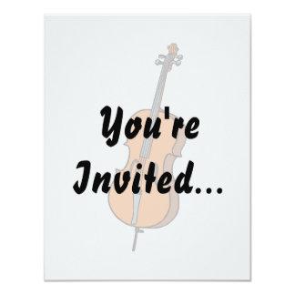 Cello Graphic , ViolinCello Music Design 4.25x5.5 Paper Invitation Card