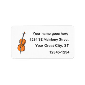 Cello Graphic , ViolinCello Music Design Address Label