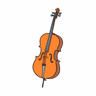 Cello Graphic , ViolinCello Music Design Standing Photo Sculpture