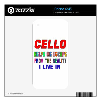 Cello Helps Me iPhone 4 Skins